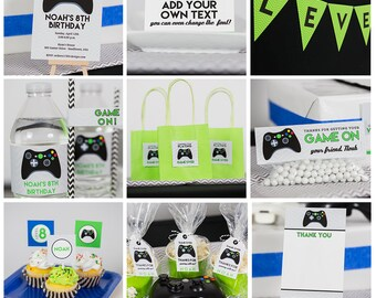 Video Game Birthday Decorations INSTANT Download - Video Game Party Decorations by Printable Studio