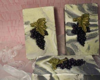 Handmade soap/cold process soap/handmade soap/artisan soap/CABERNET SAUVIGNON/natural/natural soap/natural soap/all natural/handmade soaps