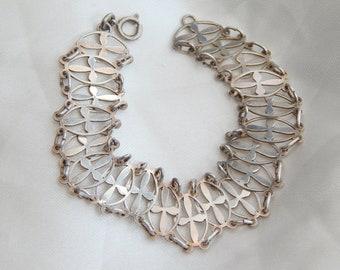 sterling silver vintage link bracelet