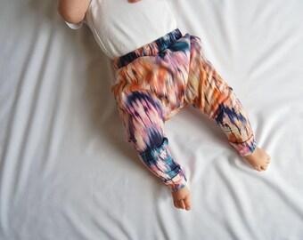 Baby Harem Pants, Toddler Pants, Harem Pants, Baby Pants, Baby Leggings