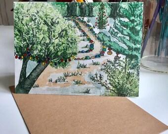 Greeting card, original art, watercolor print