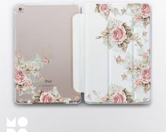 Roses iPad Air 2 Case Pad Air Case iPad Pro 12 9 Case iPad Flowers iPad 4 iPad Pro Case Blue iPad Mini 2 Floral iPad Smart Cover CM4006