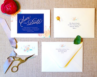 Save the Date | Custom Save the Date | Wedding Invites | Wedding Invitations | Custom Invitations | Watercolor Invitations