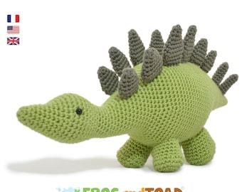 Dinosaure Stégosaure - Stegosaurus - Amigurumi Crochet Patron - PDF Tuto Français