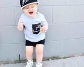 Petit Homme Grey Toddler Boy T-Shirt // Little Man T-shirt // Little Boy T-Shirt // French // Monochrome Kids // Modern Kid's Clothing