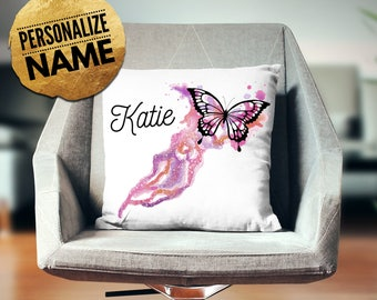Butterfly Room Decor, Butterfly Gift Idea, Butterfly Girls Room, Butterfly  Throw Pillow,
