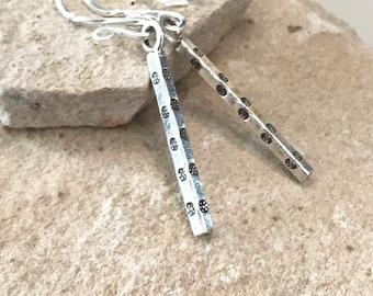 Silver drop earrings, Hill Tribe silver earings, dangle earrings, silver dangle earrings, earrings, gift for her, boho earrings