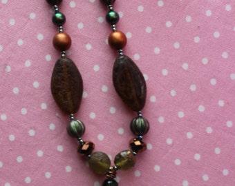 I Love Spring Resin Pendant Necklace