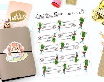 Bill Due Planner Stickers - Bill Stickers - Bill Due Stickers - Functional Stickers - Planner Stickers - 011