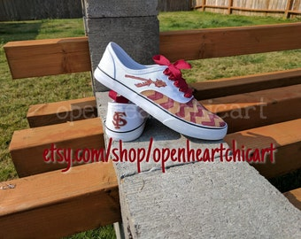 Florida state hand painted shoes