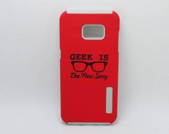 Geek Is The New Sexy Glasses Black Text Nerdy / Geeky Phone Case - for Samsung A5 2017 J1 J3 J5 J7 Note 4 Note 5 S4 S5 S6 Edge + S7 S7 Edge