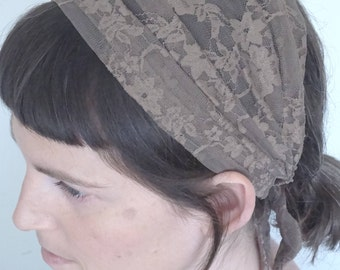 Lace headband, women headband, Headcovering, Head band, Tichel Lace, lace headband, half covering