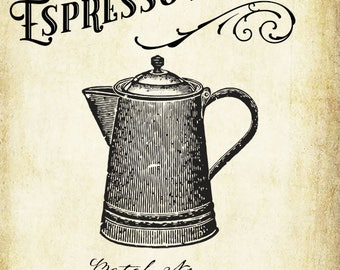 Custom Espresso or Coffee Liqueur Labels - Vintage Style Coffee Label - All text is customizable