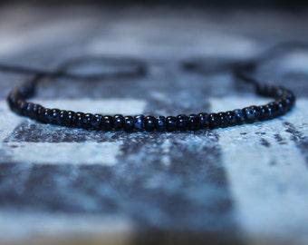 Wish Bracelet - Motivation Bracelet - Black String, Mens gift for him Husband Gift , Saint Valentine Gift Men, San Valentin Gift Men