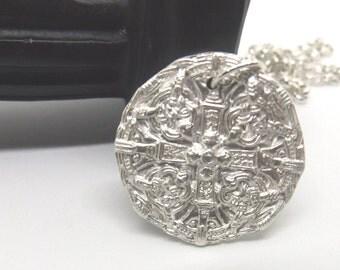 28 mm Sterling Silver Norse Talisman Pendant