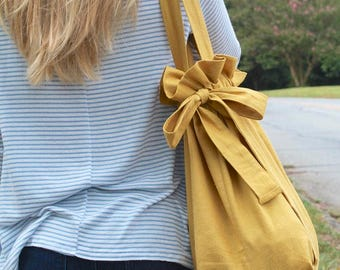 Handmade Cinching Ruffle Tote Bag