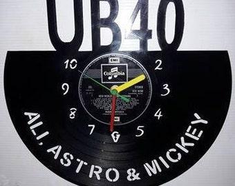 UB40 Vinyl Record Clock
