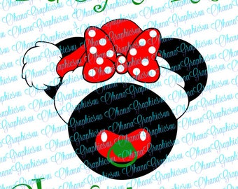 Super Cute Minnie Baby's 1st Christmas SVG