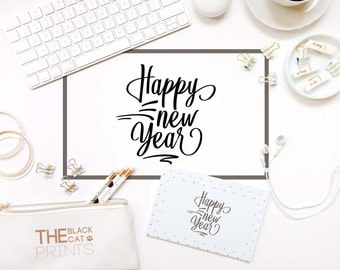 Happy New year svg file Cricut svg design Digital stencil Winter svg file Holiday svg cut file Christmas svg DXF eps png New Year's eve svg