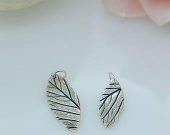 Silver Leaf Pendant. leaf, herb, sage necklace, boho, elliptical leaf print, nature jewellery, Silver leaf, natural style, Classic, leaves
