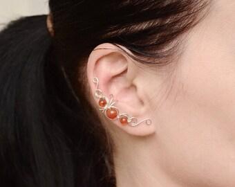 Ear cuff fake earrings cuff Earrings non pierced ear cuff Cartilage ear wrap earrings Fake Cartilage Piercing wrap Conch earring non pierced