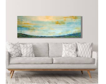 Horizontal wall art etsy horizontal wall art soothing landscape hills art hills and valley very large sciox Images