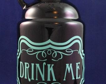 Drink Me Vinyl Design on 32 oz Beer Growler