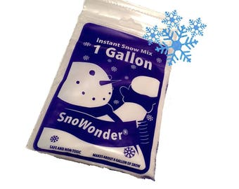 1 Gallon of Instant Snow Artificial Snow - Mix Makes 1 Gallon of Fake Snow - Perfect for making slime!, FAST SHIPPING!