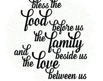 Bless the food before us svg,  bless this food printable, vector cut files, cricut svg, sillouette designs, digital download, dxf files