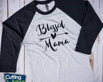 Blessed Mama Shirt, Blessed Mom Shirt, Blessed Mommy Shirt, Blessed Shirt, Blessed Arrow Shirt, Arrow Shirt, Mom Shirt