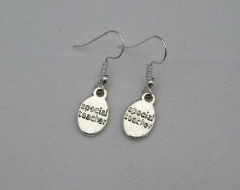 Special teacher earrings, end of term / year gift, teacher appreciation, thoughtful teacher jewellery gift for her, sterling silver earrings