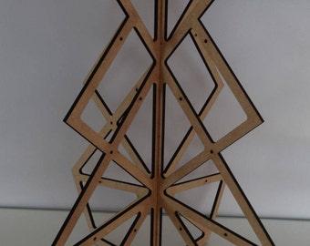 modern paint design wooden Christmas tree