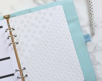Polka Dots Pocket Folder | Planner Pocket | Pocket Divider | Pocket Dashboard - A5