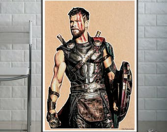 Thor : Ragnarok  - Fine Art Print - A4/A3