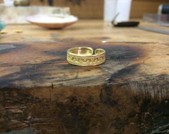 22k Solid Gold  Ring , Entirely Handmade with Ancient Greek Design