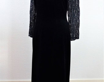 Long black prom dress uk