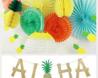 Luau Party Decorations, Hawaiian Party Decorations, Summer Party Decorations, Tropical Party Decorations, Pool Party Decorations