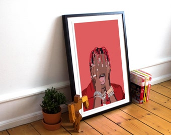 Lil Yachty INSPIRED Poster / Lil Yachty Print / Minimalist Art / Music Poster / Hip Hop poster / Rap Poster / Summer Songs Poster