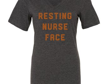 SALE 30% OFF!  Resting Nurse Face Tee | halloween, nurse gift, nurse shirt, RN gift, registered nurse, nurse, nurses, nursing school