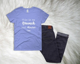 Brunch Shirt, Mimosa Shirt, Women T-Shirts, Brunch and Bubbly, Gift for Her, Summer Shirts, Best friend Shirts, Women's Tops