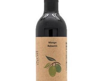 Dark Mango Balsamic Vinegar, 12.6oz Bottle.
