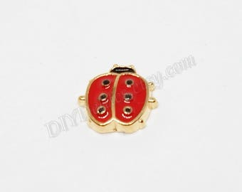 Ladybug Floating Memory Charm, Living Memory Charm, Wholesale Floating Locket Charms, Memory Charm,Floating Charm, Good Luck Ladybug Charms