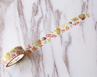 Autumn Washi Tape/ mushroom Washi Tape/pumpkin tape / Masking tape/ japanese washi tape/Planner Supplies
