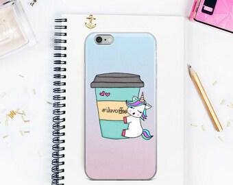 iPhone 8 plus case, iPhone X case, Unicorn iPhone Case, iPhone 6 Plus/6s Plu, iPhone 6/6s, iPhone 7 case, coffee iphone case