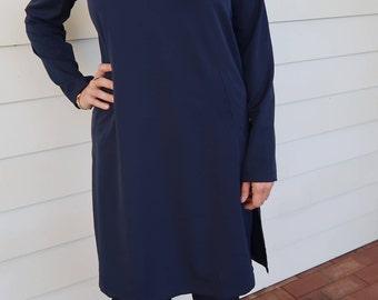 Navy Long Sleeve Tunic