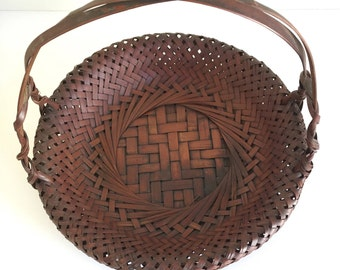 SALE: Decorative Rattan Basket with Handle