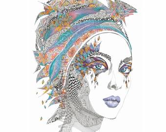 Prints/cards from my original artworks - sizes to 950 x 950 mm max. Portrait commissions welcome via a photo! www.mandiglynn-jones.com.au