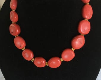 Coral Necklace by Dobka