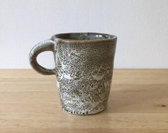 Handmade Ceramic Mug, Animal Print Mug