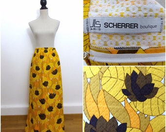 RARE RARE Jean-Louis Scherrer 70s Maxi Skirt, Statement, French Couture